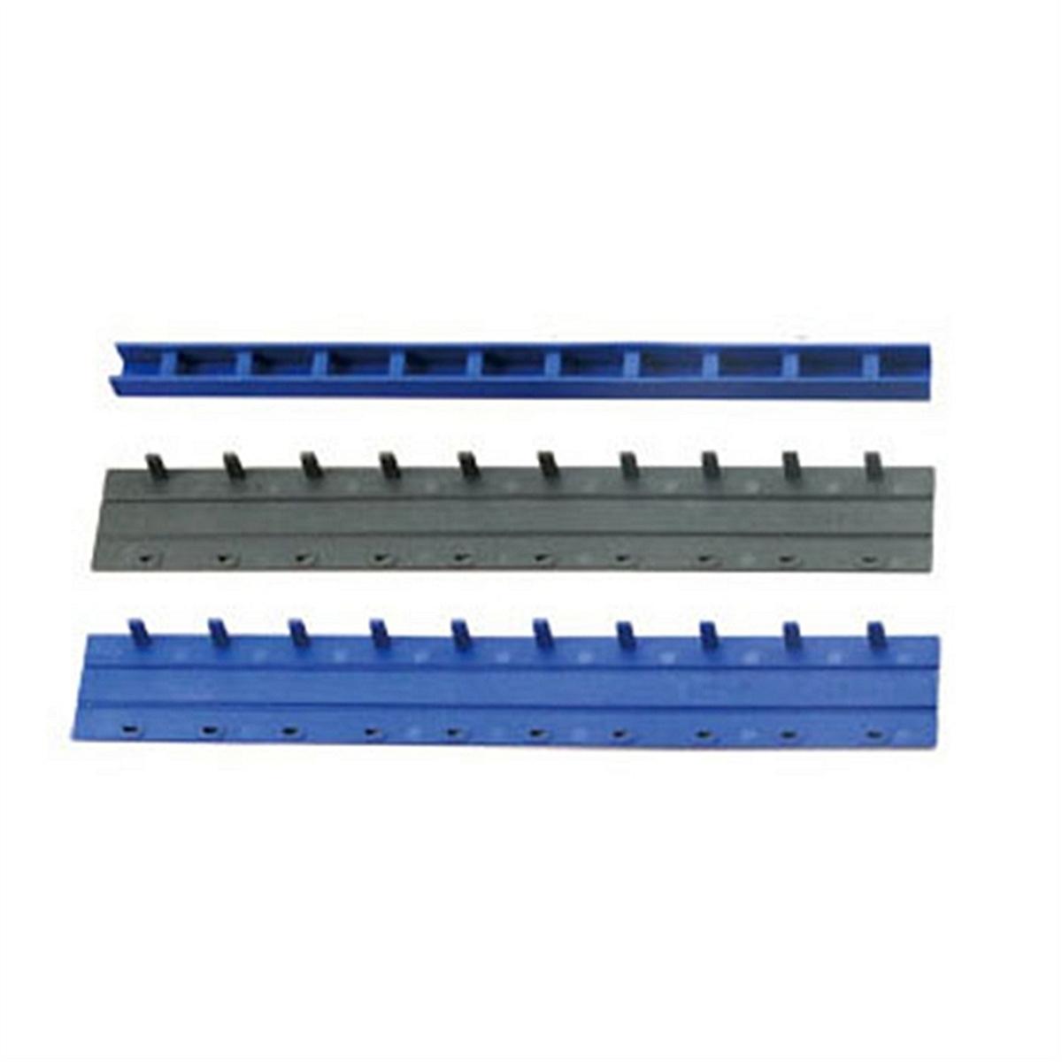 得力3828-10孔装订夹条(蓝)300*12.5mm(100支/盒) 装订条