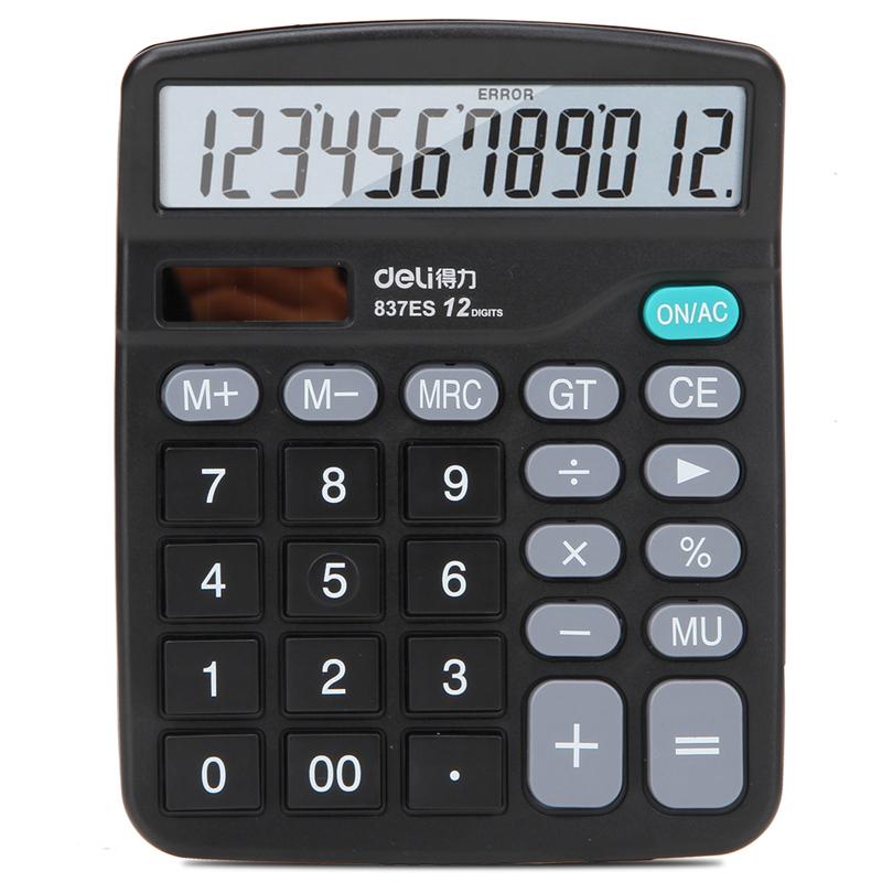 得力 837ES 桌面计算器 149x120x50mm (单位:台) 黑