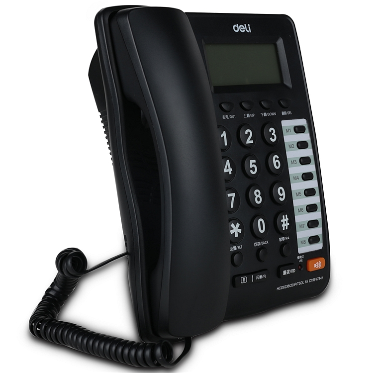 得力 784 电话机 195x168x80mm (单位:台) 黑