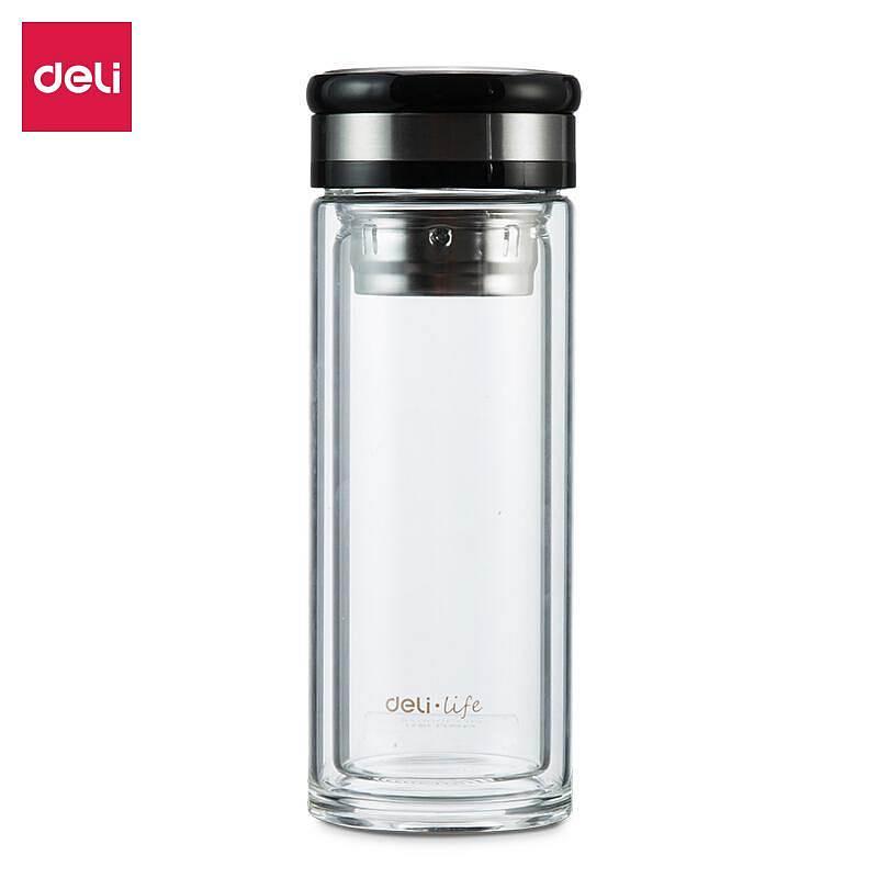 得力8988玻璃杯 水杯(透明)(只)