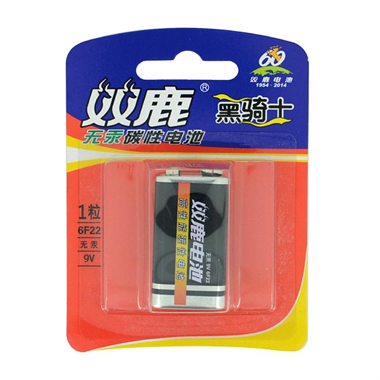双鹿 6F22/9v 中文碳性 1节/卡 (单位:卡)