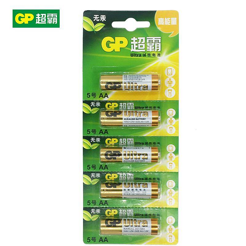 超霸 GP15A-L5I 碱性电池 5节/卡 (单位:卡)